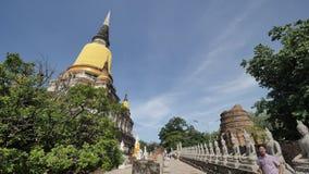 Wat Yai Chai Mongkhon eller den stora kloster av den lovande segern i Ayutthaya av Thailand Arkivbild