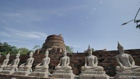 Wat Yai Chai Mongkhon eller den stora kloster av den lovande segern i Ayutthaya av Thailand Arkivfoton