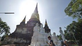 Wat Yai Chai Mongkhon eller den stora kloster av den lovande segern i Ayutthaya av Thailand Royaltyfria Foton
