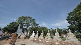 Wat Yai Chai Mongkhon eller den stora kloster av den lovande segern i Ayutthaya av Thailand Arkivbilder
