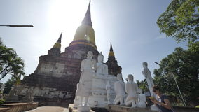 Wat Yai Chai Mongkhon eller den stora kloster av den lovande segern i Ayutthaya av Thailand Royaltyfri Bild