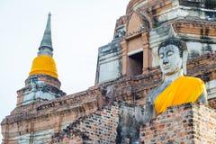 Wat Yai Chai Mongkhon em Ayutthaya, Tailândia Imagem de Stock