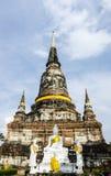 Wat Yai Chai Mongkhon en Ayuthaya Tailandia Fotografía de archivo libre de regalías