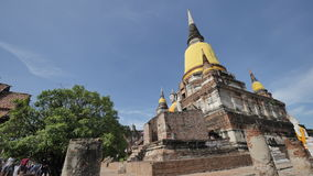 Wat Yai Chai Mongkhon or the Great Monastery of Auspicious Victory in Ayutthaya of Thailand. WAT YAI CHAI MONGKHON Stock Images