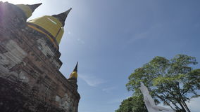 WAT YAI CHAI MONGKHON. The Great Monastery of Auspicious Victory is located off the city island in the southeastern area of Ayutthaya in present Phai Ling Sub Stock Images