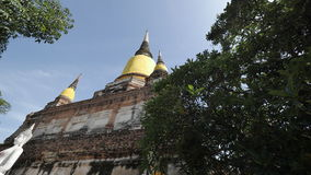 WAT YAI CHAI MONGKHON. The Great Monastery of Auspicious Victory is located off the city island in the southeastern area of Ayutthaya in present Phai Ling Sub Stock Photography