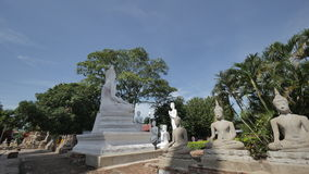 WAT YAI CHAI MONGKHON. The Great Monastery of Auspicious Victory is located off the city island in the southeastern area of Ayutthaya in present Phai Ling Sub Stock Photo