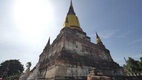 Wat Yai Chai Mongkhon o il grande monastero della vittoria promettente a Ayutthaya della Tailandia immagine stock