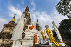 Wat Yai Chai Mongkhon Royalty Free Stock Image