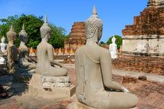 Wat Yai Chai Mongkhon Temple a Ayutthaya, Tailandia Immagine Stock