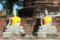 Wat Yai Chai Mongkhon Temple a Ayutthaya, Tailandia Immagini Stock