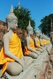 Wat Yai Chai Mongkhon Temple a Ayutthaya, Tailandia Fotografia Stock