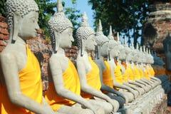 Wat Yai Chai Mongkhon Temple a Ayutthaya, Tailandia Immagini Stock Libere da Diritti