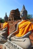 Wat Yai Chai Mongkhon Temple em Ayutthaya, Tailândia Imagem de Stock