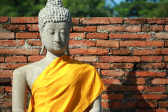 Wat Yai Chai Mongkhon Temple em Ayutthaya, Tailândia Foto de Stock