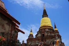 Wat Yai Chai Mongkol fotos de archivo