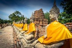 Wat Yai Chai Mongkol royalty-vrije stock afbeeldingen