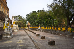 Wat Yai Chai Mongkol Royalty Free Stock Images