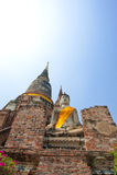 Wat Yai Chai Mongkol Fotografia Stock