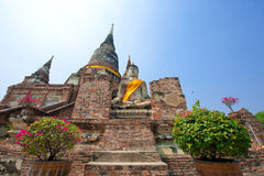 Wat Yai Chai Mongkol Stock Foto's