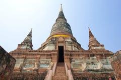 Wat Yai Chai Mongkol Fotografia Stock Libera da Diritti