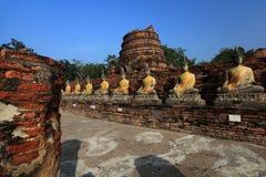 Wat Yai Chai Mongkol Imágenes de archivo libres de regalías