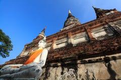 Wat Yai Chai Mongkol Imagen de archivo