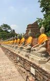 Wat Yai Chai Mongkol Stockfotos