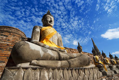 Wat Yai Chai Mongkol, Ayudhya Стоковое фото RF
