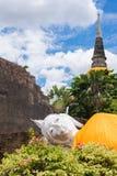 Wat Yai Chai Mongkol, Ayudhya. Rows of Buddha images at Wat Yai Chai Mongkol, Ayudhya Province, Thailand Royalty Free Stock Image