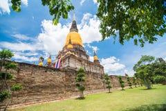 Wat Yai Chai Mongkol, Ayudhya. Rows of Buddha images at Wat Yai Chai Mongkol, Ayudhya Province, Thailand Royalty Free Stock Photo