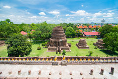 Wat Yai Chai Mongkol, Ayudhya. Rows of Buddha images at Wat Yai Chai Mongkol, Ayudhya Province, Thailand Stock Photo