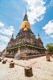 Wat Yai Chai Mongkol, Ayudhya. Rows of Buddha images at Wat Yai Chai Mongkol, Ayudhya Province, Thailand Stock Image