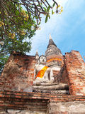 Wat Yai Chai Mongkol- Ayuttaya of Thailand Stock Photos