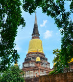Wat Yai Chai Mongkol, Ayutthaya, Ταϊλάνδη Στοκ εικόνα με δικαίωμα ελεύθερης χρήσης