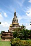Wat Yai Chai Mongkol Ayutthaya Fotografia Stock