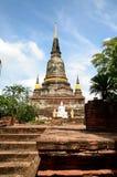 Wat Yai Chai Mongkol Ayutthaya Fotografia Stock Libera da Diritti