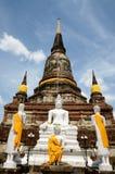 Wat Yai Chai Mongkol Ayutthaya Immagini Stock Libere da Diritti