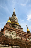 Wat Yai Chai Mongkol Ayutthaya Immagini Stock
