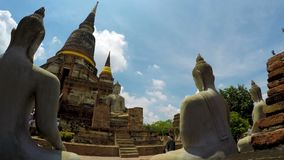 Wat yai chai mongkol in ayutthaya province thailand one of world heritage site of unesco stock video