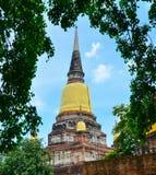 Wat Yai Chai Mongkol, Ayutthaya, Tailândia Imagem de Stock Royalty Free