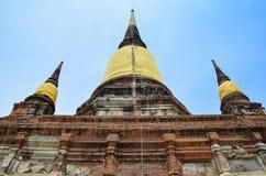 Wat Yai Chai Mongkol, Ayutthaya, Tailândia Imagem de Stock