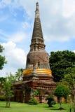 Wat Yai Chai Mongkol Ayutthaya Stock Image