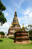 Wat Yai Chai Mongkol Ayutthaya Royalty Free Stock Photo