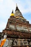 Wat Yai Chai Mongkol Ayutthaya Stock Photo