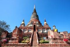 Wat Yai Chai Mongkol Stock Image