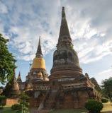 Wat Yai Chai Mongkol. At Ayutthaya, Thailand Royalty Free Stock Photo