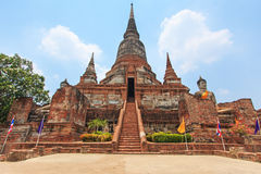Wat Yai Chai Mongkol in Ayutthaya, Thailand Royalty Free Stock Photos