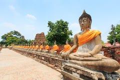 Wat Yai Chai Mongkol in Ayutthaya, Thailand Stock Images