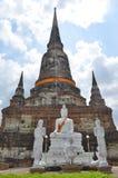 Wat Yai Chai Mongkol in Ayutthaya Royalty Free Stock Photo